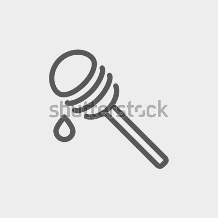 Honey dipper line icon. Stock photo © RAStudio