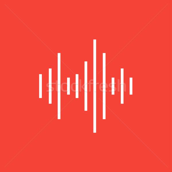 Hangszínszabályozó vonal ikon sarkok háló mobil Stock fotó © RAStudio