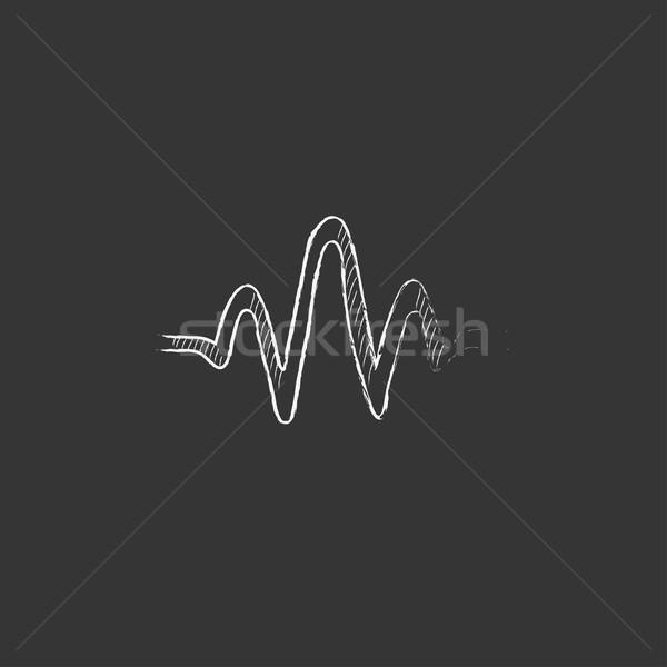 звуковая волна мелом икона рисованной вектора Сток-фото © RAStudio