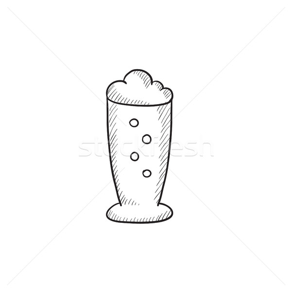 Glass of beer sketch icon. Stock photo © RAStudio