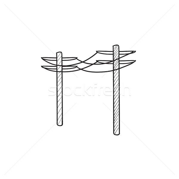 Kroki ikon vektör yalıtılmış Stok fotoğraf © RAStudio