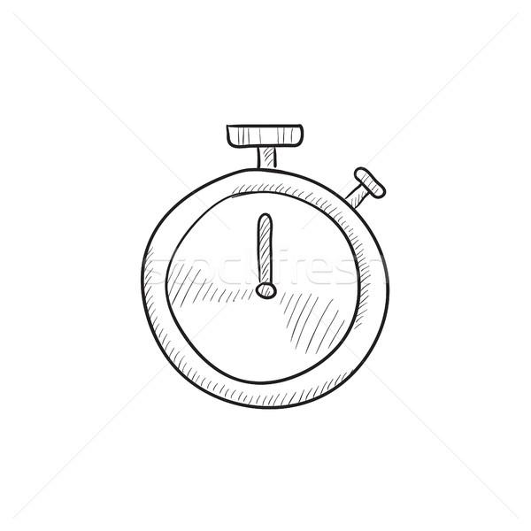Stopwatch sketch icon. Stock photo © RAStudio