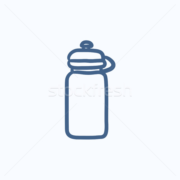 Sport water bottle sketch icon. Stock photo © RAStudio