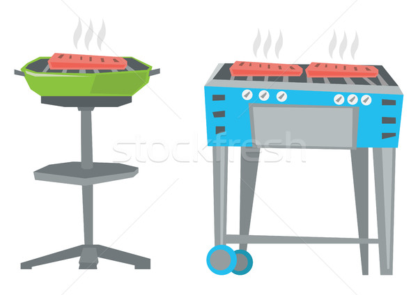 Bollitore barbecue barbecue gas grill vettore Foto d'archivio © RAStudio