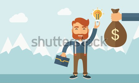 Exchange of money in idea. Stock photo © RAStudio