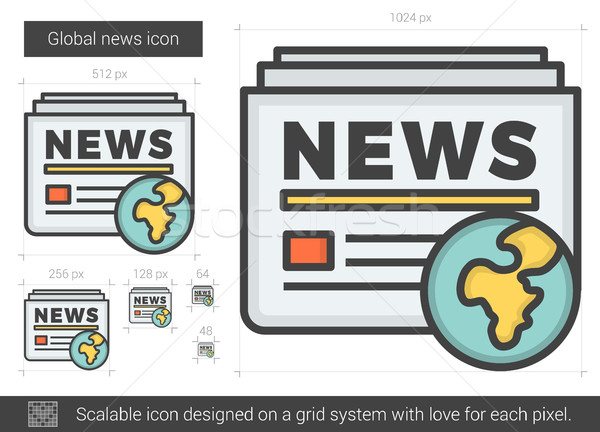 Global news line icon. Stock photo © RAStudio