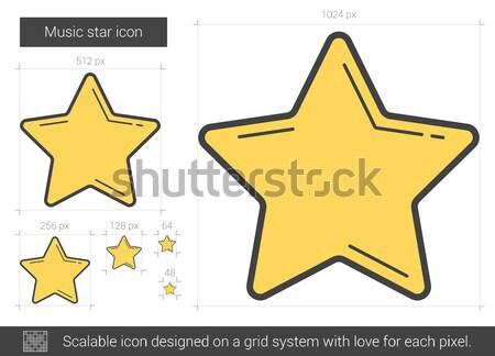 Star favoriet lijn icon vector geïsoleerd Stockfoto © RAStudio