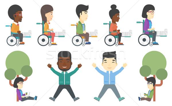 Vector set of patients and business characters. Stock photo © RAStudio