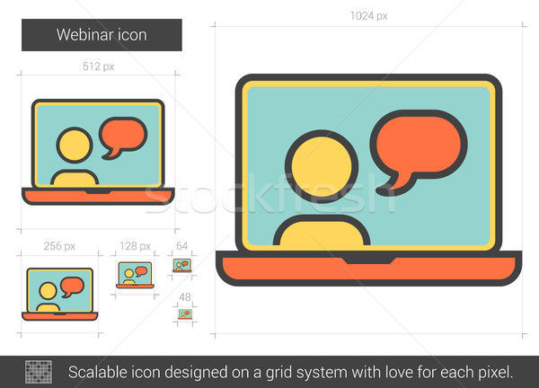 Webinar line icon. Stock photo © RAStudio
