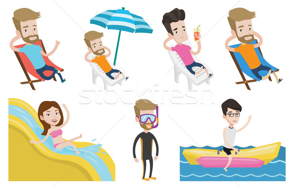 Vector set of traveling people. Stock photo © RAStudio