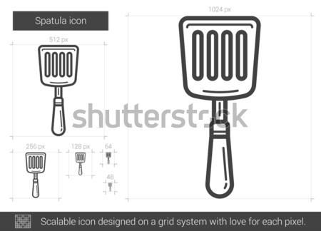Spatula line icon. Stock photo © RAStudio