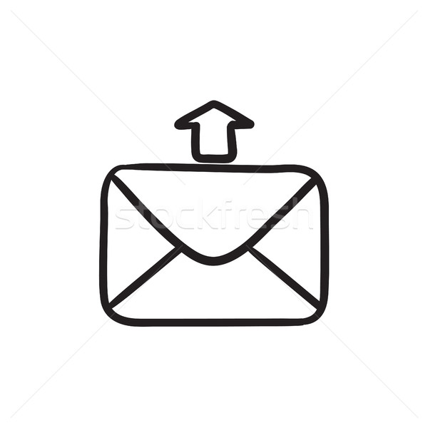 E-mail schets icon vector geïsoleerd Stockfoto © RAStudio