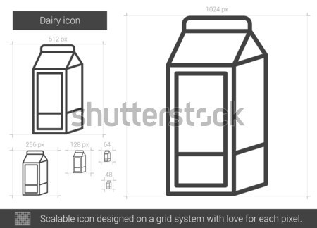 Tejgazdaság vonal ikon vektor izolált fehér Stock fotó © RAStudio