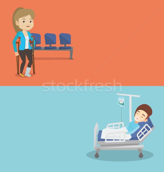 Dois médico banners espaço texto vetor Foto stock © RAStudio