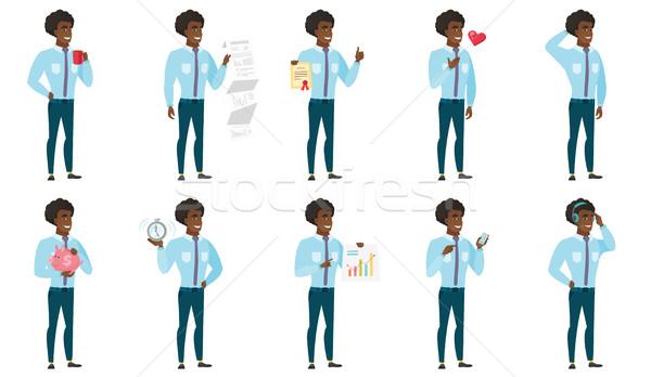 ベクトル セット イラスト ビジネスの方々  アフリカ ビジネスマン ストックフォト © RAStudio