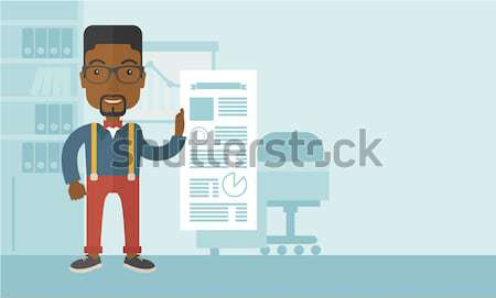 Man with like social network buttons. Stock photo © RAStudio
