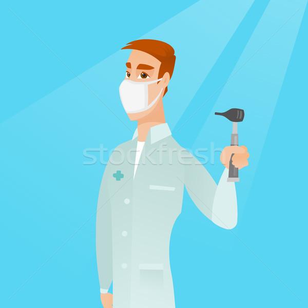 Ouvido nariz garganta médico caucasiano Foto stock © RAStudio