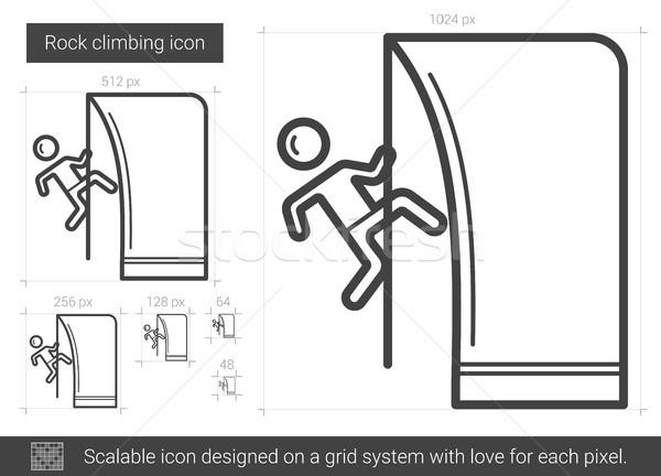 Escalada linha ícone vetor isolado branco Foto stock © RAStudio