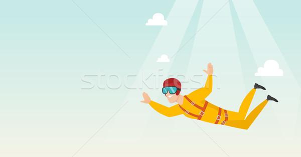 кавказский прыжки парашютом профессиональных падение воздуха Сток-фото © RAStudio