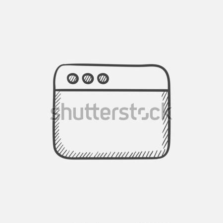 Blank window of internet browser sketch icon. Stock photo © RAStudio