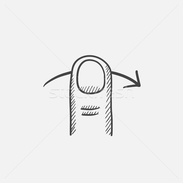Touch screen gesture sketch icon. Stock photo © RAStudio