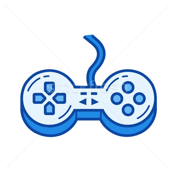 Game controller line icon. Stock photo © RAStudio