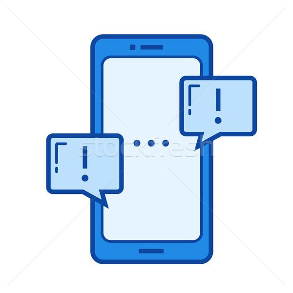 Social networking line icon. Stock photo © RAStudio