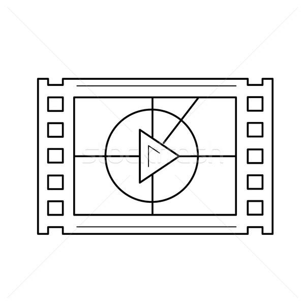 Video frame line icon. Stock photo © RAStudio