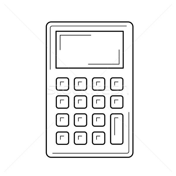 Kalkulator line ikona wektora odizolowany biały Zdjęcia stock © RAStudio