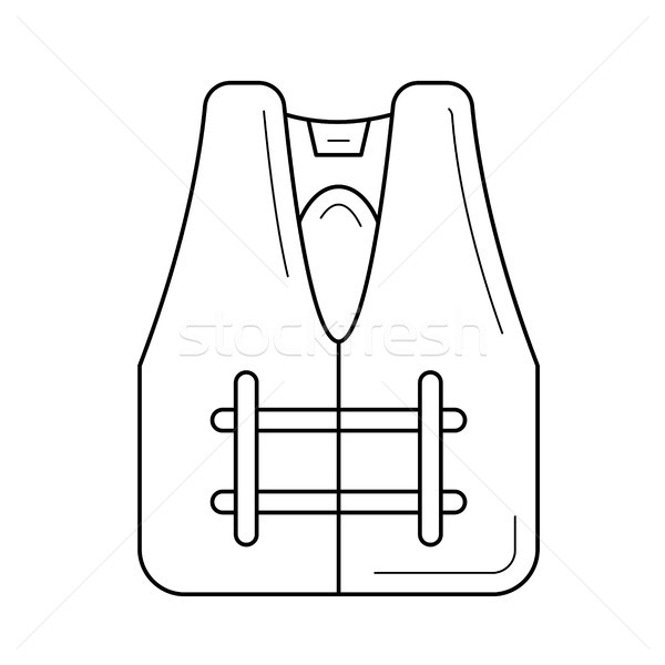 Safety jacket line icon. Stock photo © RAStudio