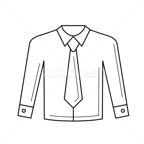 Camisas vetor linha ícone isolado Foto stock © RAStudio
