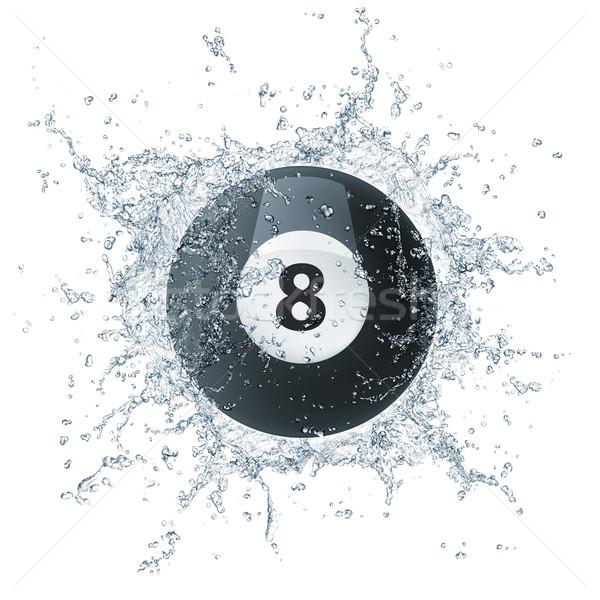 Basen bilard piłka wody odizolowany biały Zdjęcia stock © RAStudio