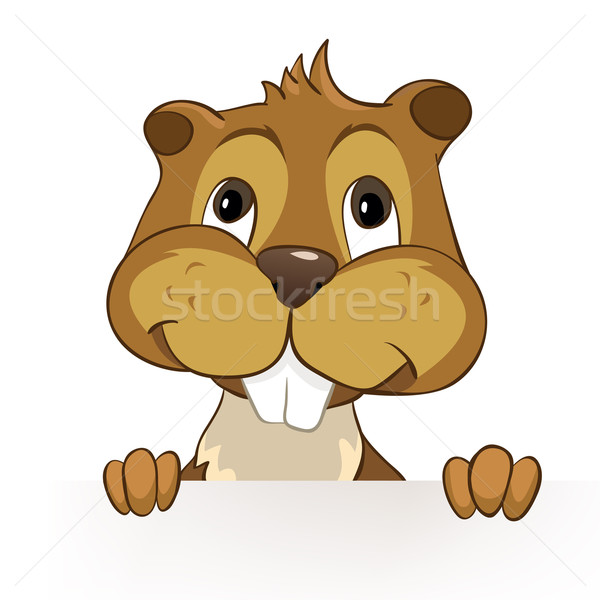Beaver CREES. Look for Funny Beaver by Keyword 'CREES'. Stock photo © RAStudio