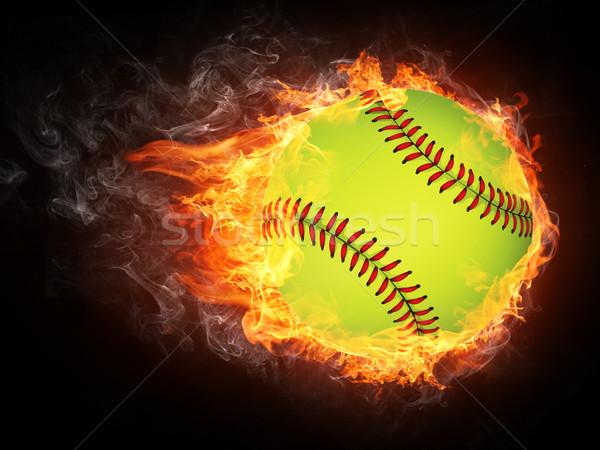 Baseball palla fuoco grafica computer design Foto d'archivio © RAStudio