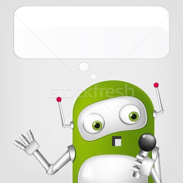 かわいい ロボット グレー 勾配 歌 ストックフォト © RAStudio