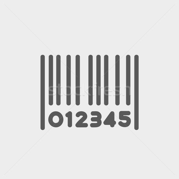 Stock fotó: Vonalkód · vékony · vonal · ikon · háló · mobil