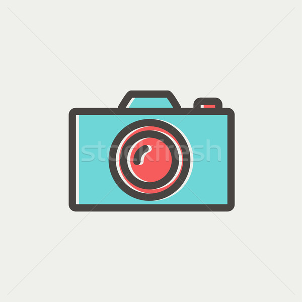 Camera thin line icon Stock photo © RAStudio