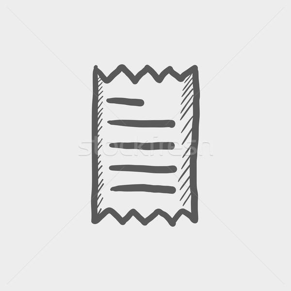 Ricevimento sketch icona web mobile Foto d'archivio © RAStudio