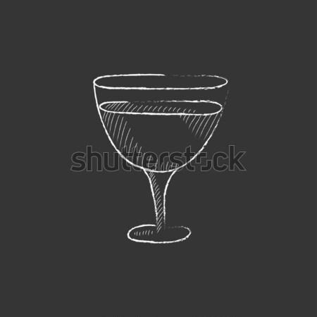 стекла Martini эскиз икона веб мобильных Сток-фото © RAStudio
