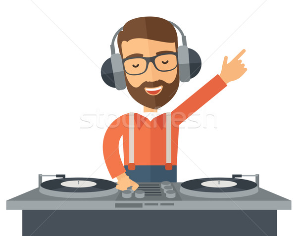Disc jockey mixing music. Stock photo © RAStudio