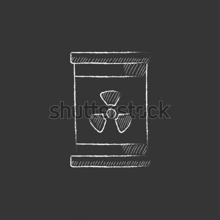 バレル 放射線 にログイン アイコン チョーク ストックフォト © RAStudio