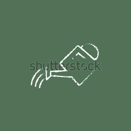 Swimmer icon drawn in chalk. Stock photo © RAStudio