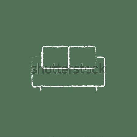 Negatieve icon krijt Blackboard Stockfoto © RAStudio
