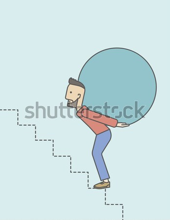 Man carrying ball. Stock photo © RAStudio
