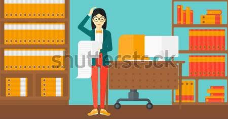 Werk overbelasten man papier asian kantoor Stockfoto © RAStudio