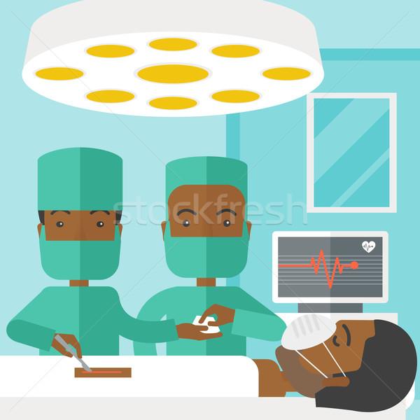 Zdjęcia stock: Operacja · dwa · pracy · patrząc · pacjenta