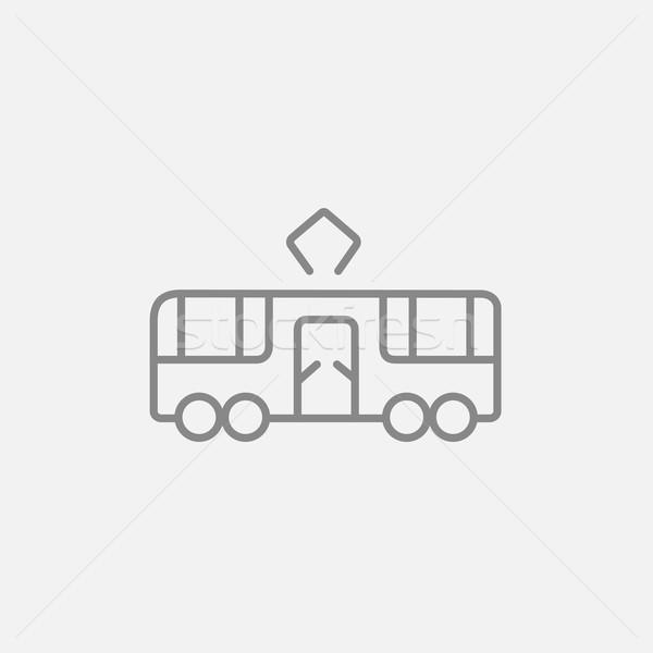 Tram line icona web mobile infografica Foto d'archivio © RAStudio