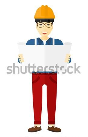 Stock fotó: Férfi · tart · tabletta · hipszter · szakáll · kezek