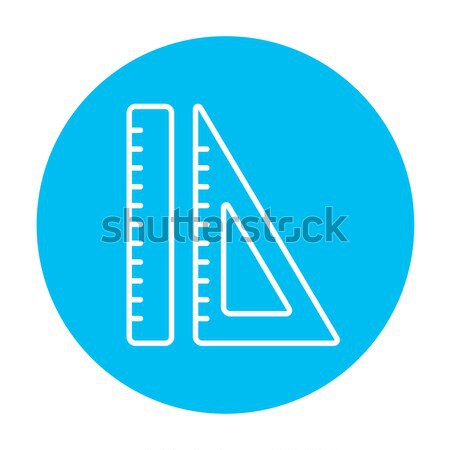 Rulers line icon. Stock photo © RAStudio