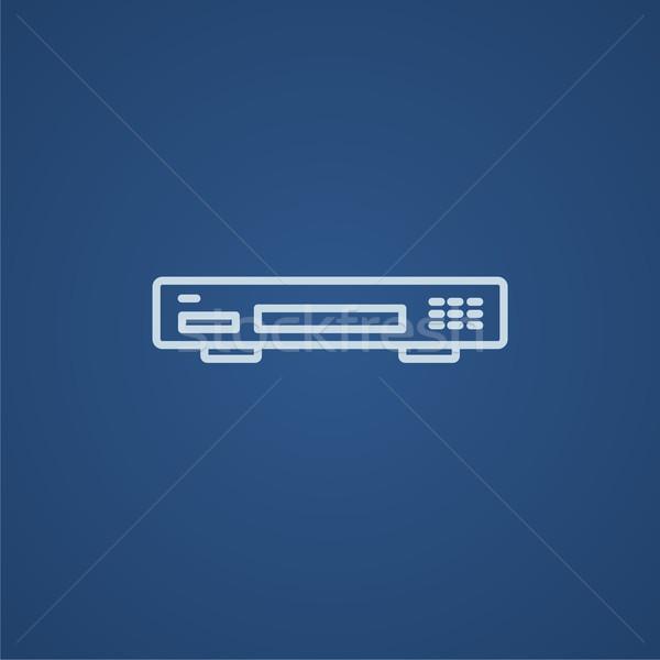 Video recorder line icon. Stock photo © RAStudio